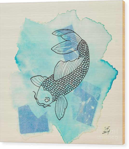 Cyprinus Carpio Wood Print
