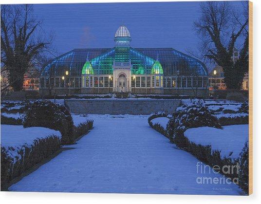 D5l-280 Franklin Park Conservatory Wood Print