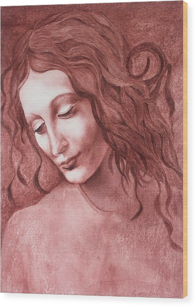 da Vinci La Scapigliata Wood Print