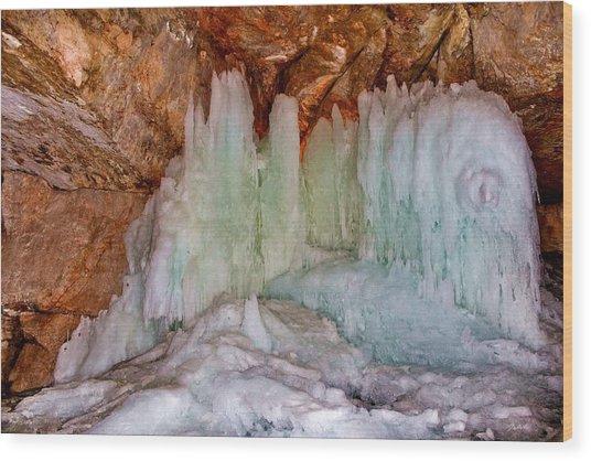 Dachstein Ice Cave Wood Print