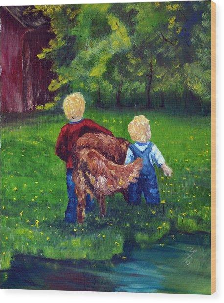 Daddy's Boys Wood Print