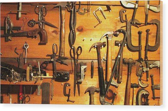 Dads Tools 3 Wood Print by Will Boutin Photos