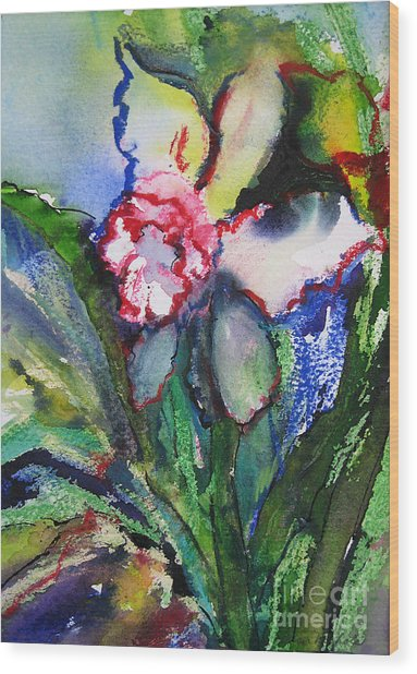 Daffodil 6 Wood Print by Gwen Nichols