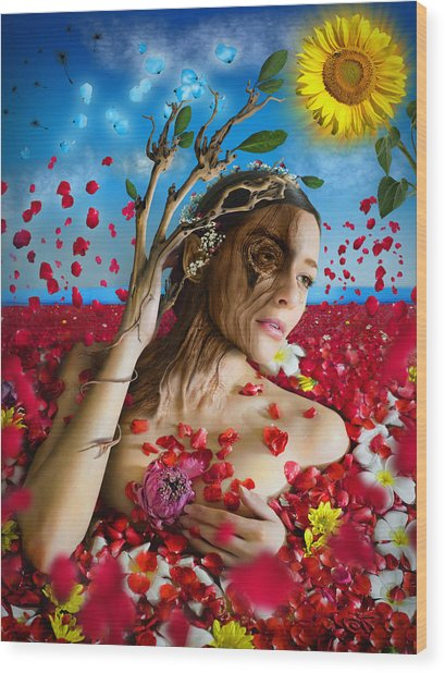 Dafne   Hit In The Physical But Hurt The Soul Wood Print
