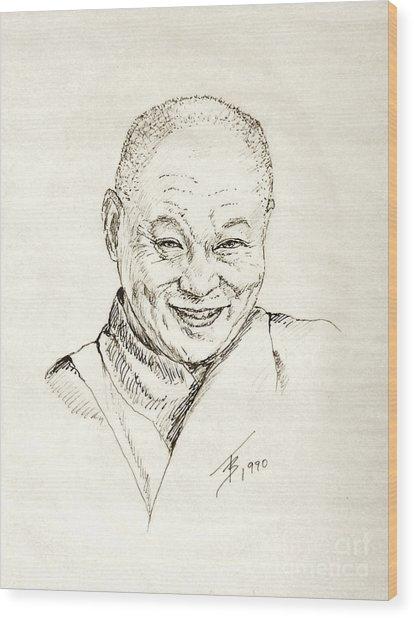 Dahlai Lama Wood Print