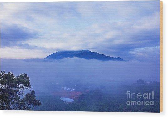 Dai Binh Mountain Dew Spread Wood Print