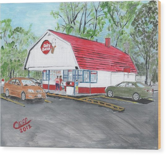 Dairy Queen  Wood Print