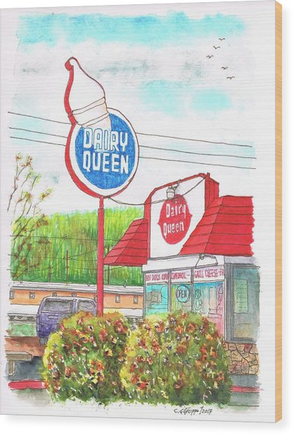 Dairy Queen In Route 66, Williams, Arizona Wood Print