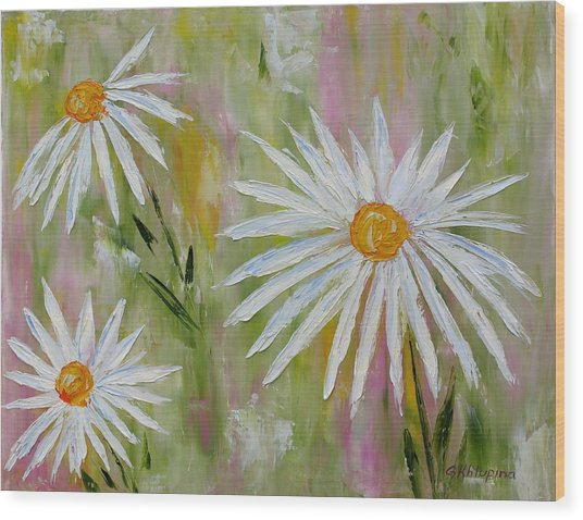 Daisies 2 Wood Print
