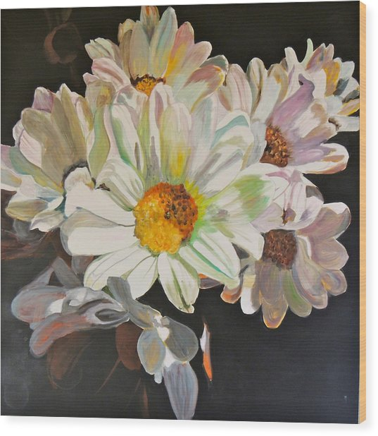 Daisies Wood Print by Jgyoungmd Aka John G Young MD