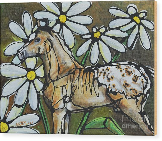 Daisies On My Britches Wood Print