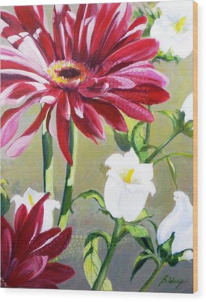 Daisy Delight - 2 Wood Print