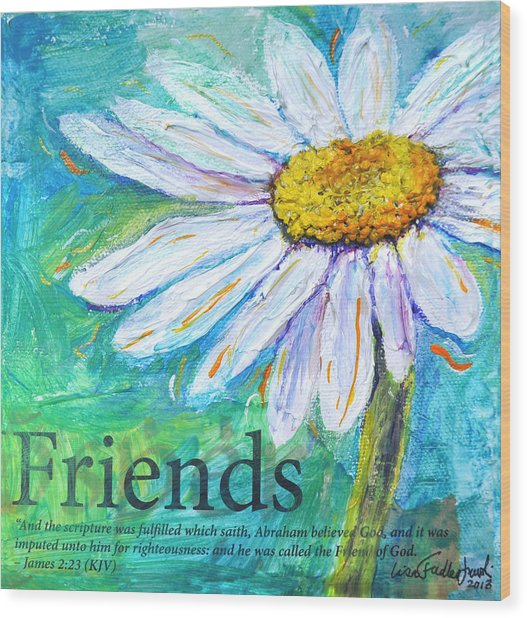 Daisy Friends Wood Print