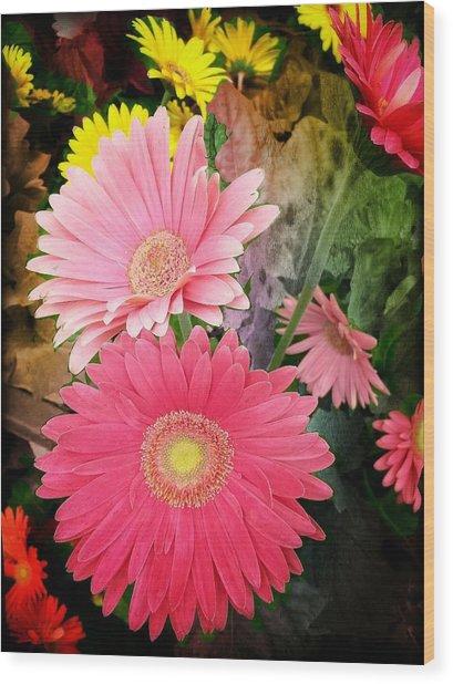 Daisy Jazz Wood Print
