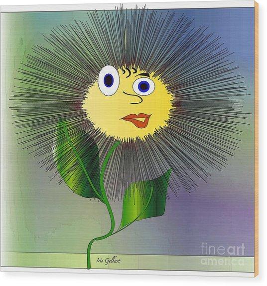 Daisy May Wood Print by Iris Gelbart