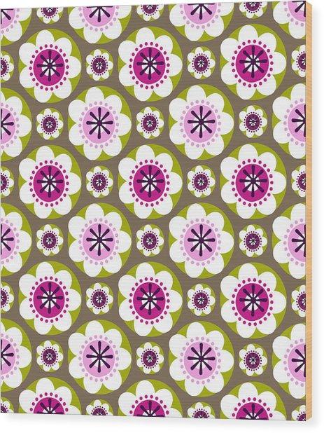 Daisy's Flower Garden Wood Print