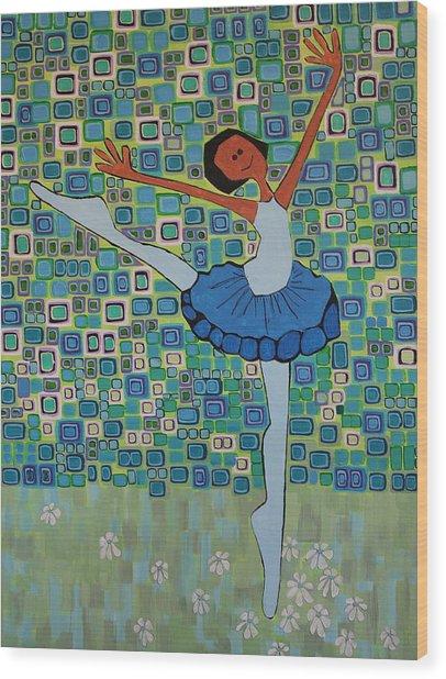 Daizies' Ballet Wood Print