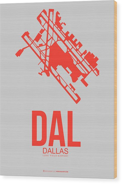 Dal Dallas Airport Poster 1 Wood Print
