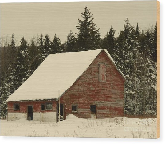 Dale Lane Barn Wood Print