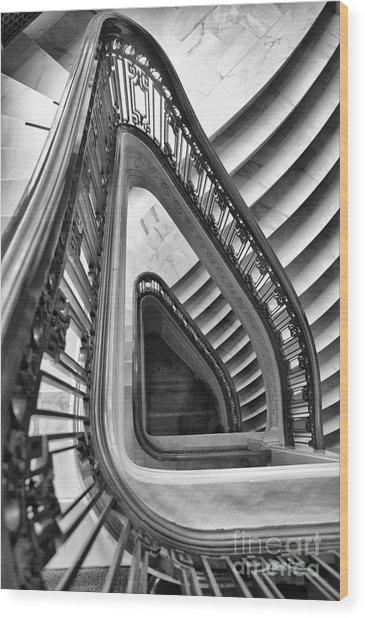 Dali Stairs Wood Print