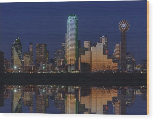 Dallas Aglow Wood Print