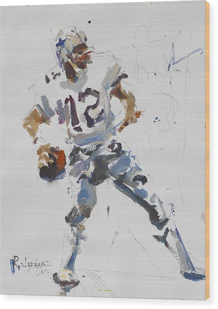 Dallas Cowboys - Roger Staubach Wood Print