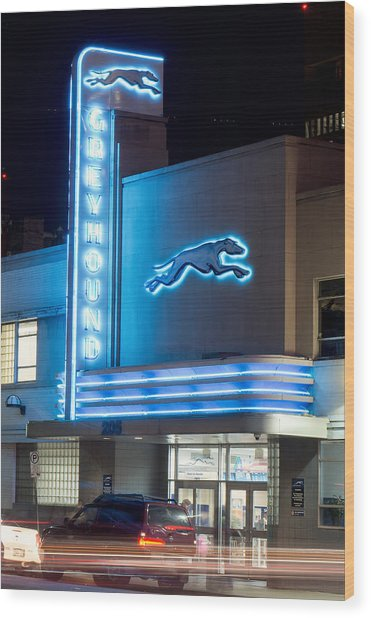 Dallas Greyhound V2 020915 Wood Print