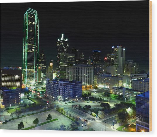 Wood Print featuring the photograph Dallas Hdr 007 by Lance Vaughn