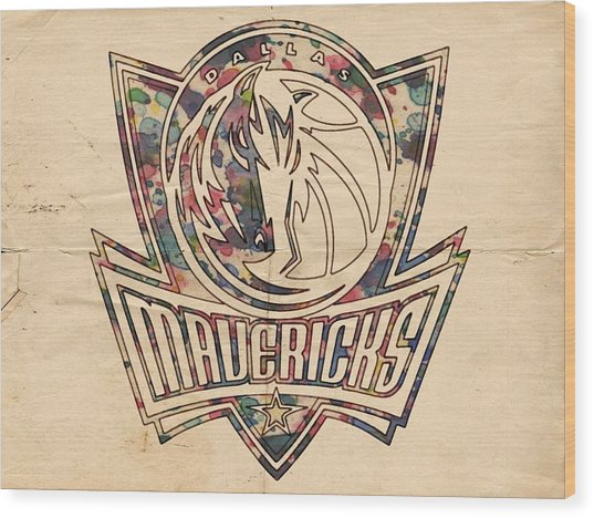 Dallas Mavericks Poster Art Wood Print