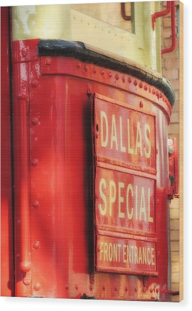 Dallas Special Front Entrance Wood Print