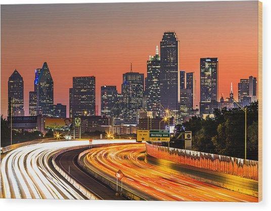 Dallas Sunrise Wood Print
