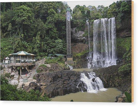 Dam Bri Waterfall, Da Lat, Vietnam Wood Print by Sheldon Levis