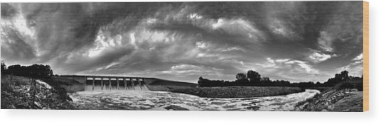 Dam Panoramic Wood Print