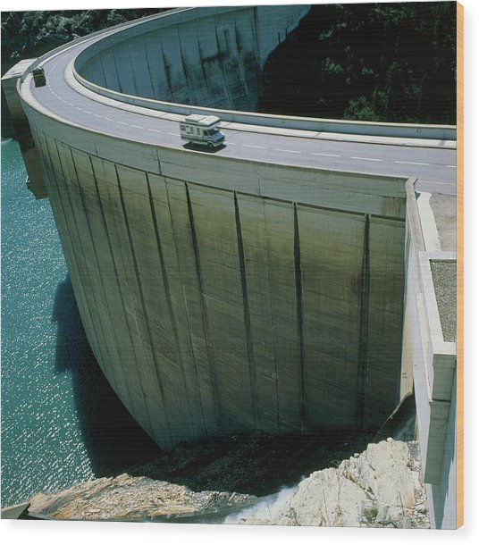 Dam Used For Hydroelectric Power Generation Wood Print by Science Photo Library
