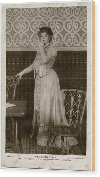 Dame Ellen Alice Terry (1847  1928) Wood Print by Mary Evans Picture Library