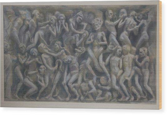 Damned  Wood Print
