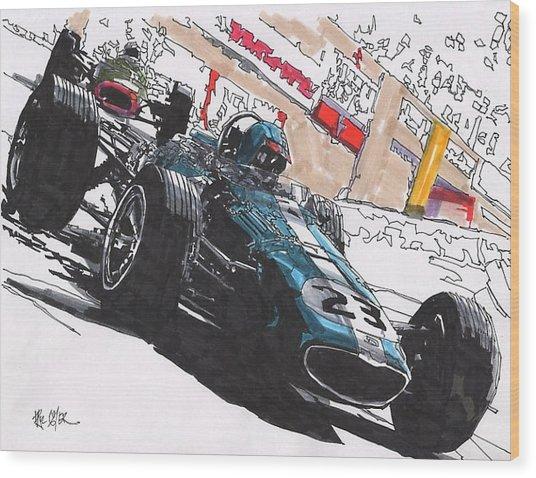 Dan Gurney Eagle Grand Prix Of Monaco Wood Print