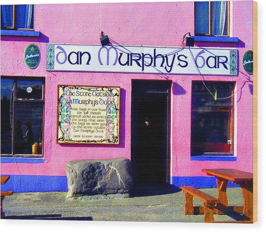 Dan Murphy's Bar Wood Print