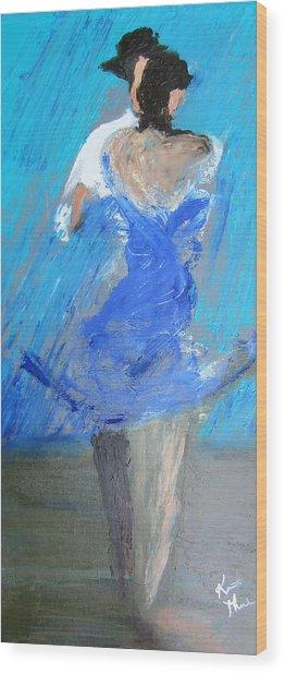 Dance In The Rain Wood Print
