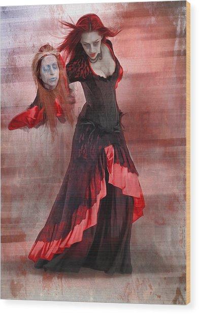 Dance Macabre Wood Print by Hazel Billingsley