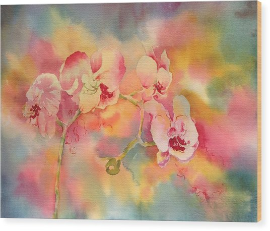 Dance Of The Orchids Wood Print