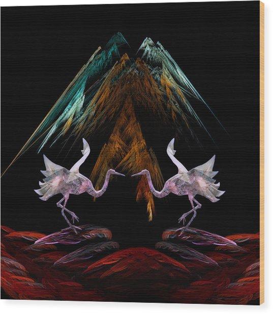 Dance Of The Paper Cranes Wood Print