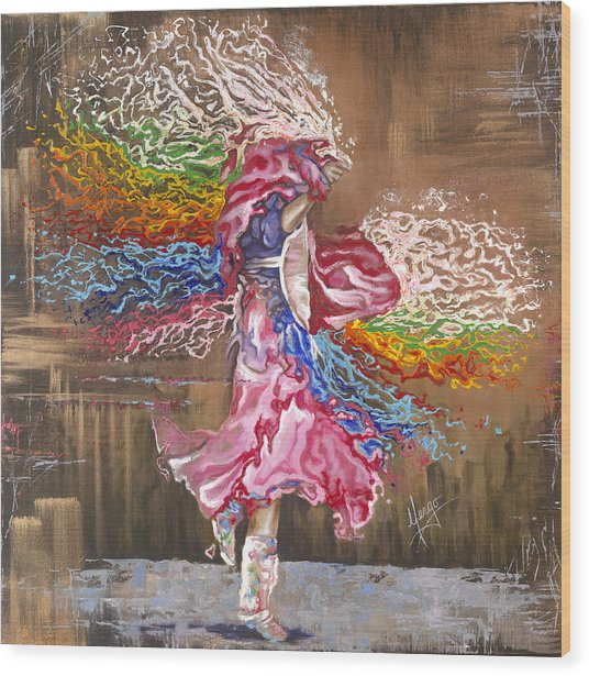 Dance Through The Color Of Life Wood Print