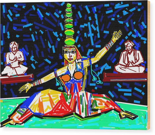 Dance With Pots Wood Print by Anand Swaroop Manchiraju