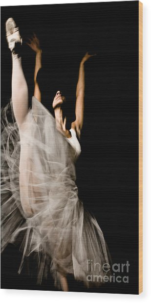 Dancer Wood Print by Marco Affini