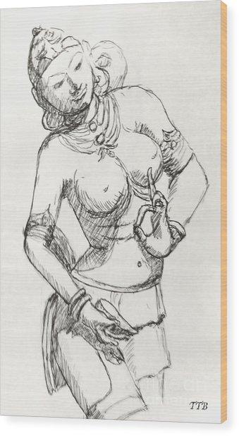 Dancer Of India Wood Print