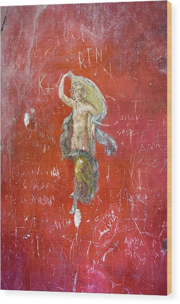 Dancer Painting In Pompeii. Wood Print by Mark Williamson/science Photo Library