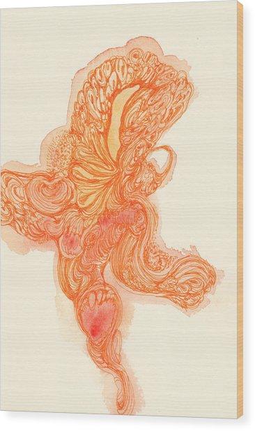 Dancer- #ss14dw010 Wood Print by Satomi Sugimoto