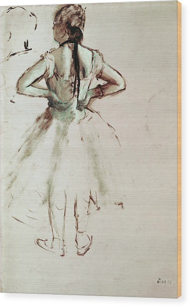 Dancer Viewed From The Back Wood Print