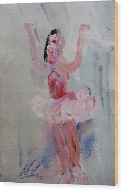 Dancers 134 Wood Print by Edward Wolverton